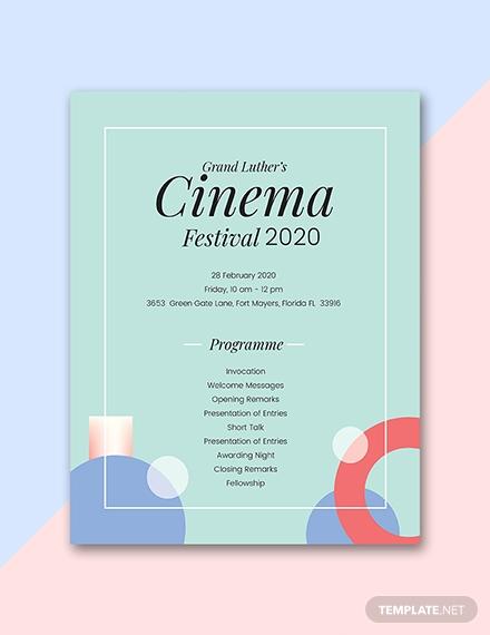 free event program sample1