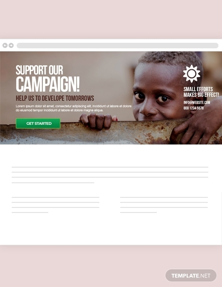 free non profit blog header template