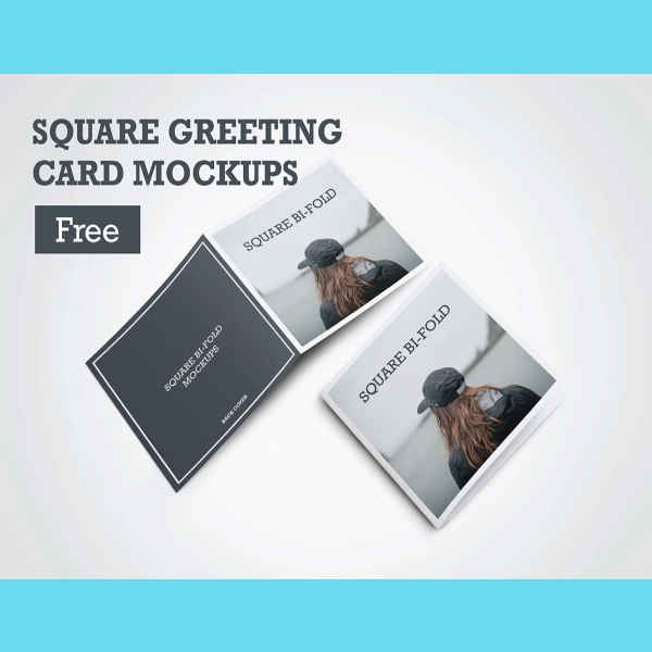 free square greeting card
