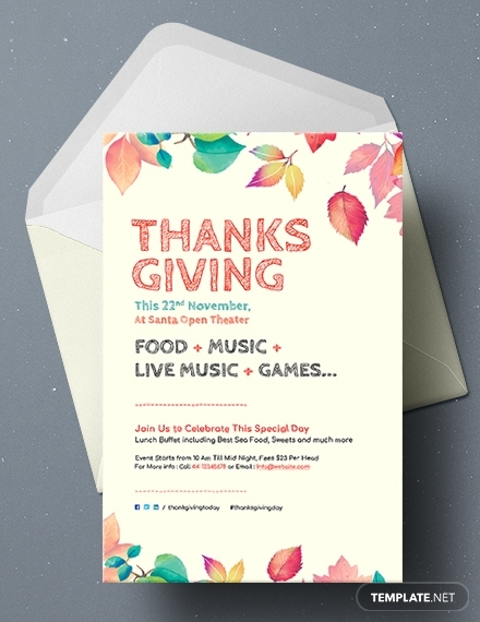 free thanksgiving greeting card template