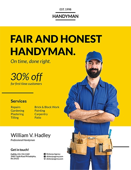 handyman construction company flyer