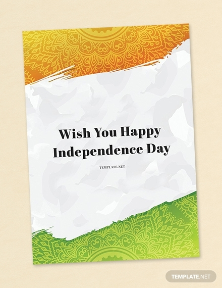 happy independence day greeting card design