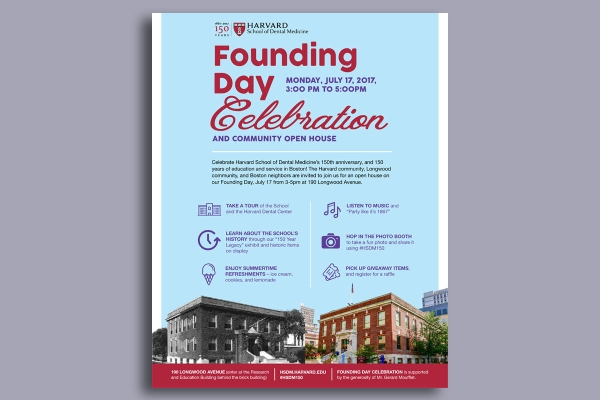 harvard founding day flyer