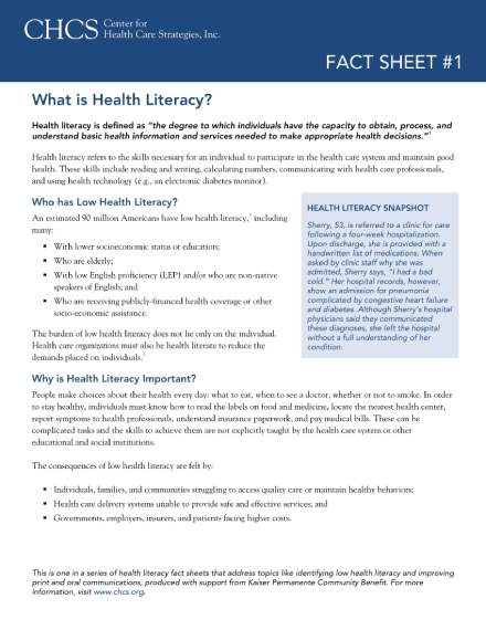 health care fund fact sheet