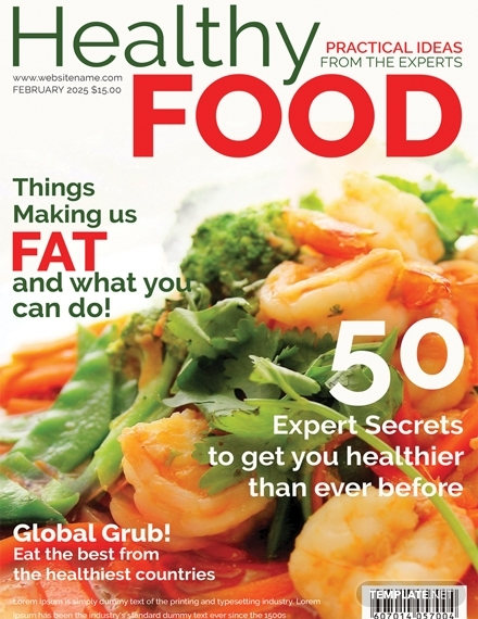 healthy food magazine cover