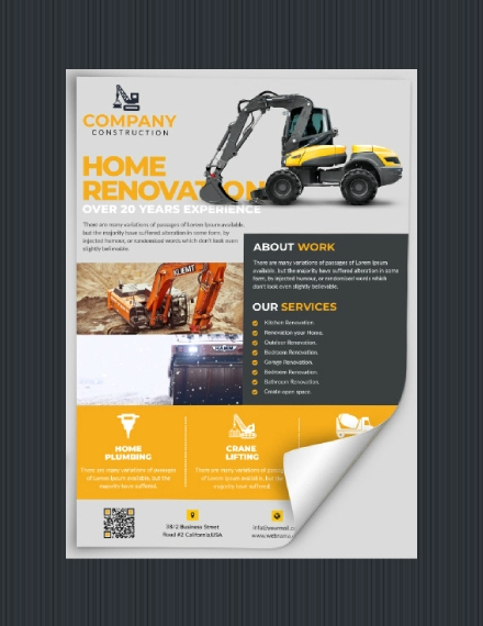 home construction company flyer