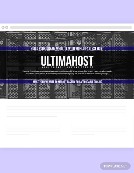 hosting website header