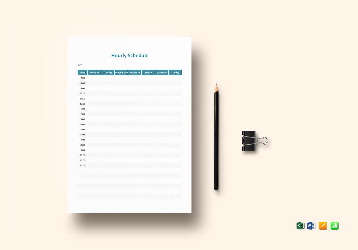 hourly schedule template1