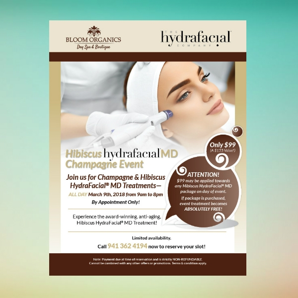 hydrafacial beauty care flyer