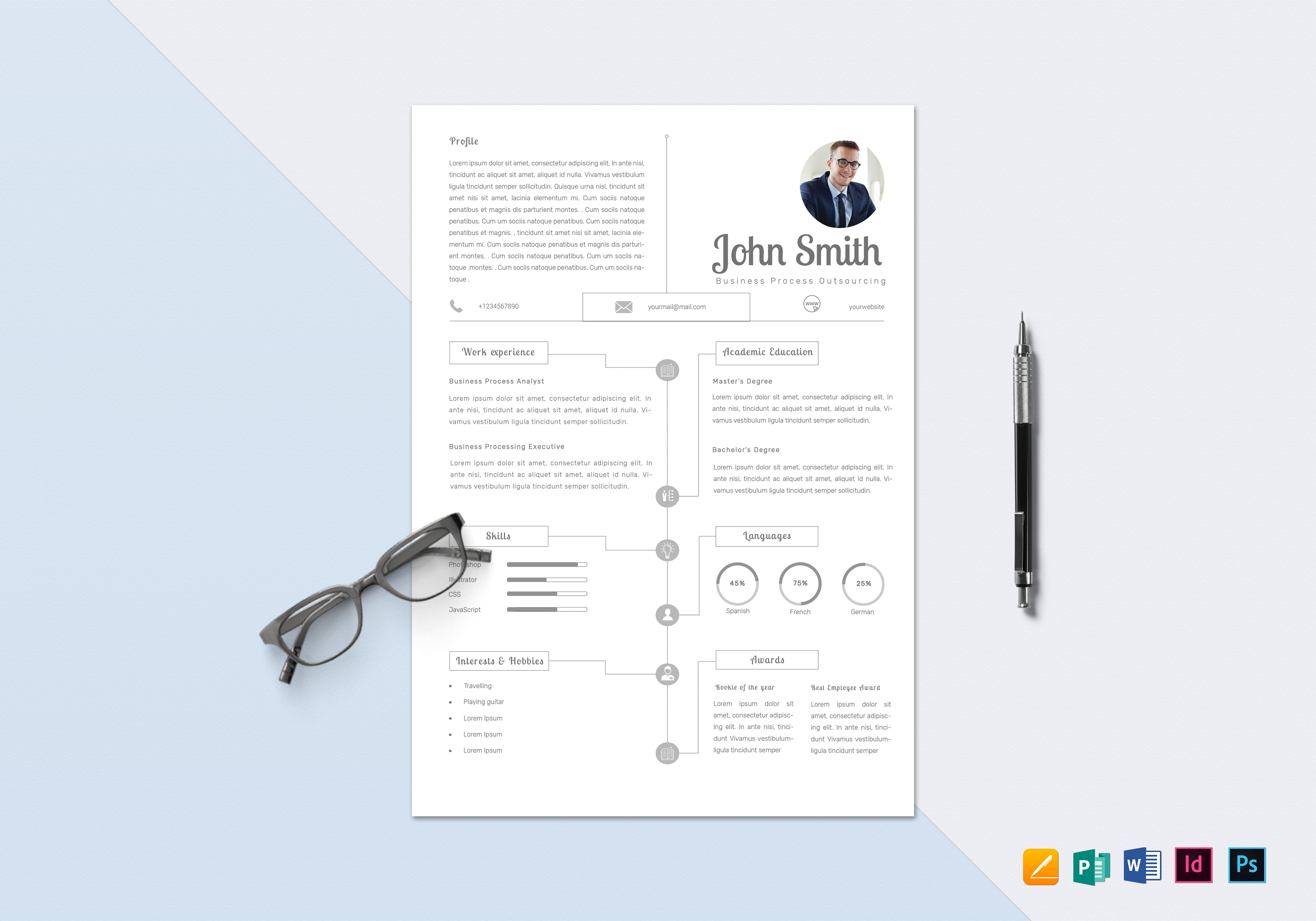 infographic bpo resume design