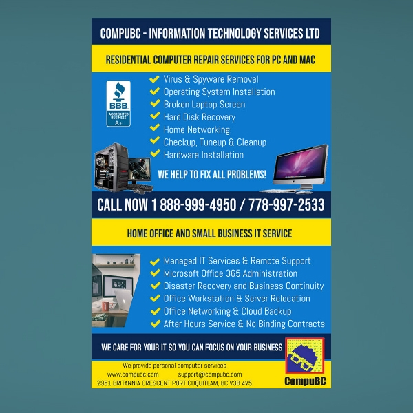 information technology services flyer