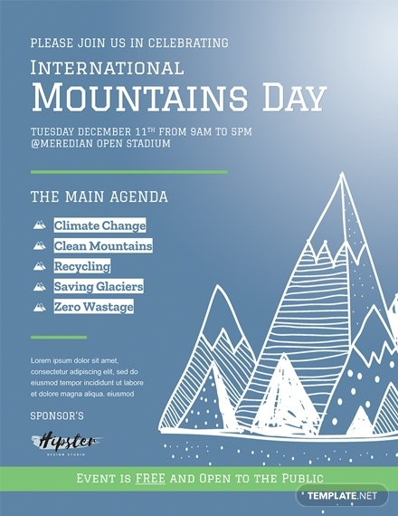 international mountains day flyer