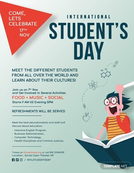 international students day flyer