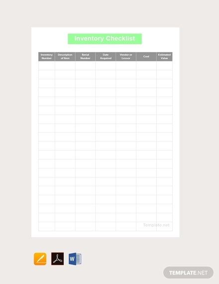 inventory checklist template1