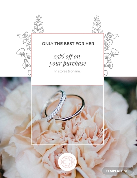 jewelry store discount poster
