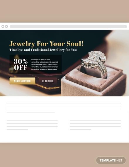 jewelry website header
