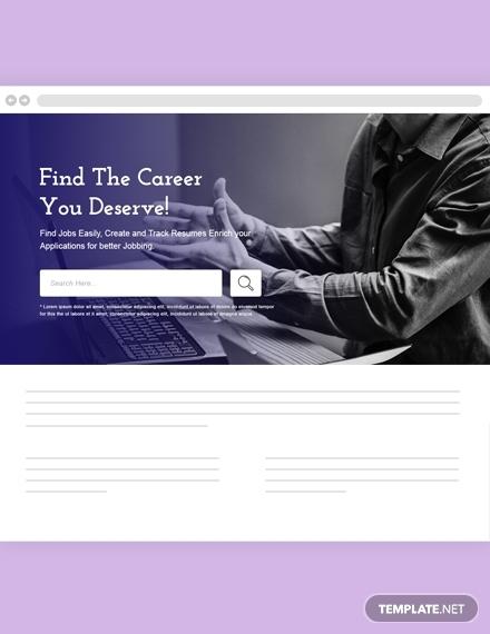jobs and employment website header