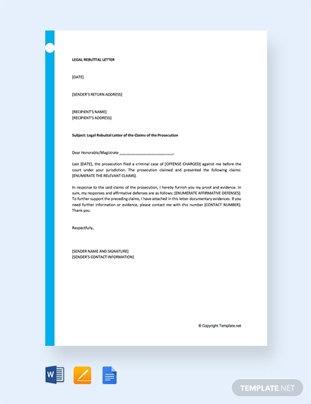 legal rebuttal letter