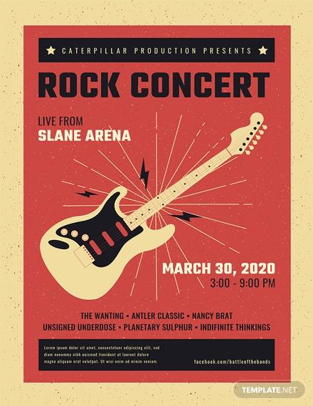 live rock concert poster