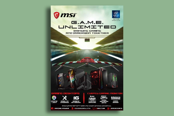 msi gaming flyer