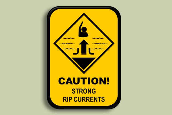 marine caution sign