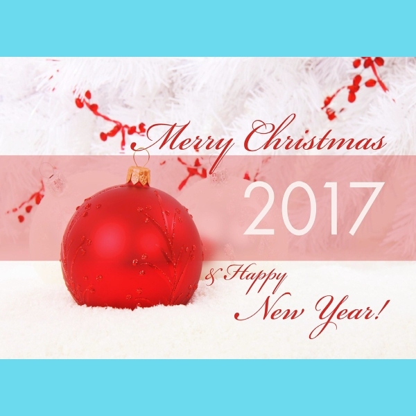 merry christmas 2017 greeting card