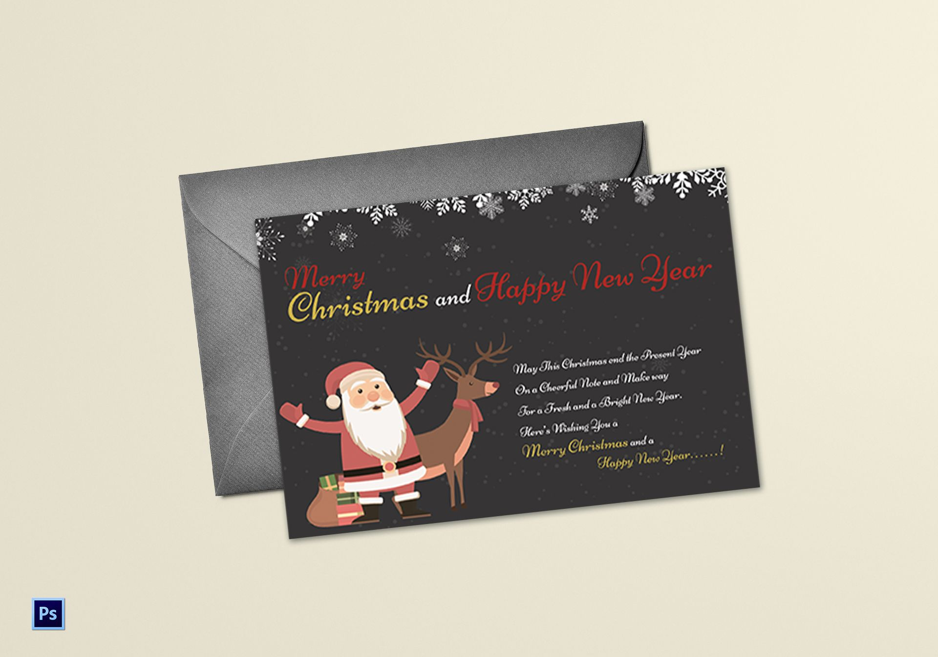17 New Year Card Examples Templates Design Ideas Examples