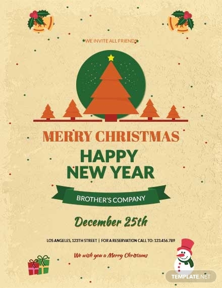 merry christmas and new year poster