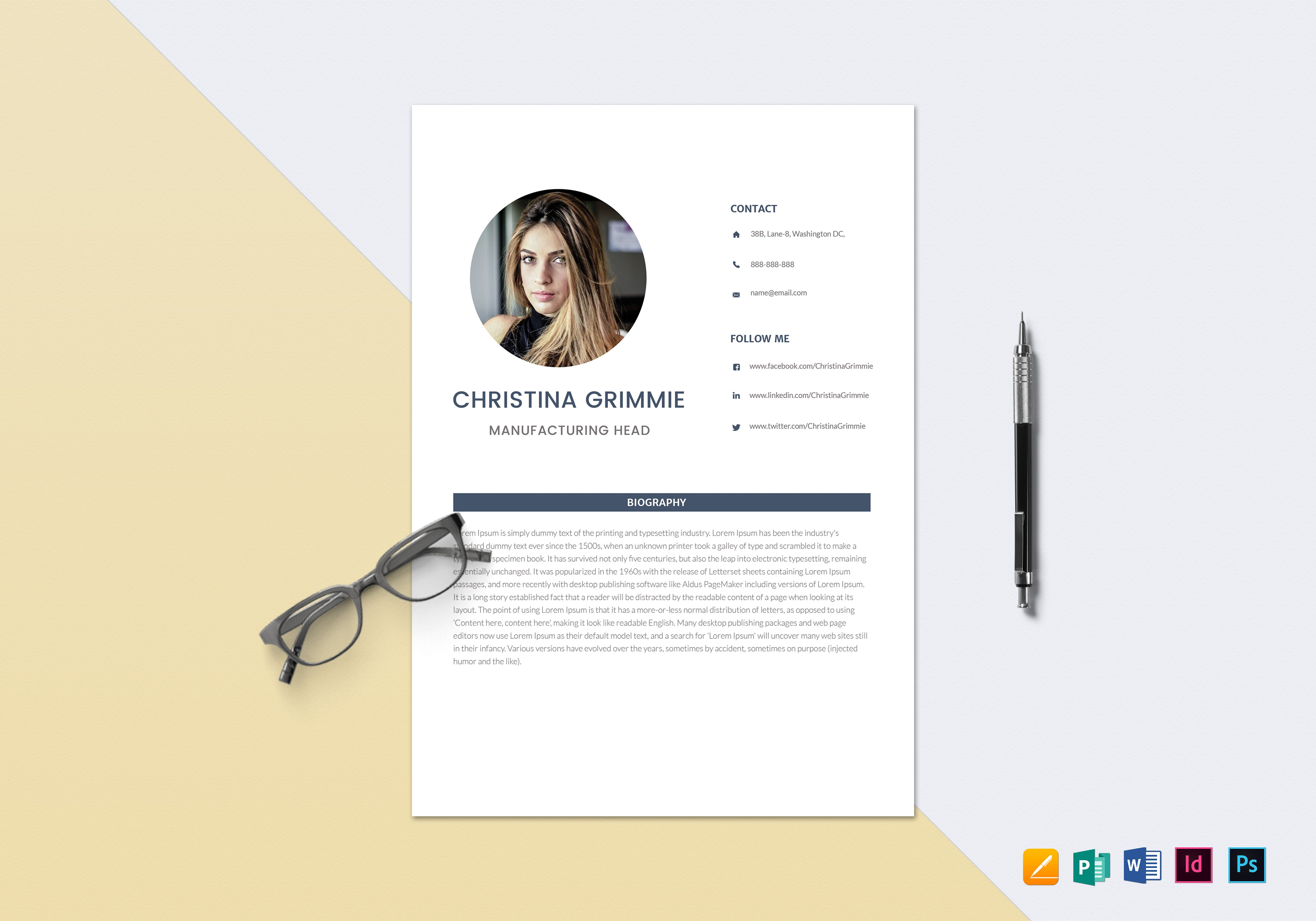 minimal automobile resume sample