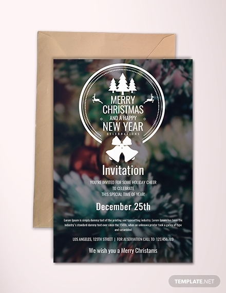 minimal christmas invitation