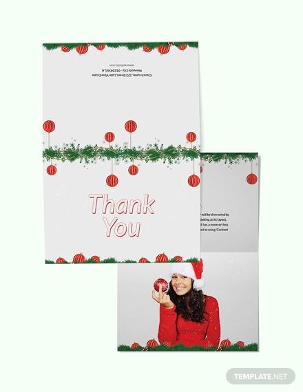 minimal christmas thank you card