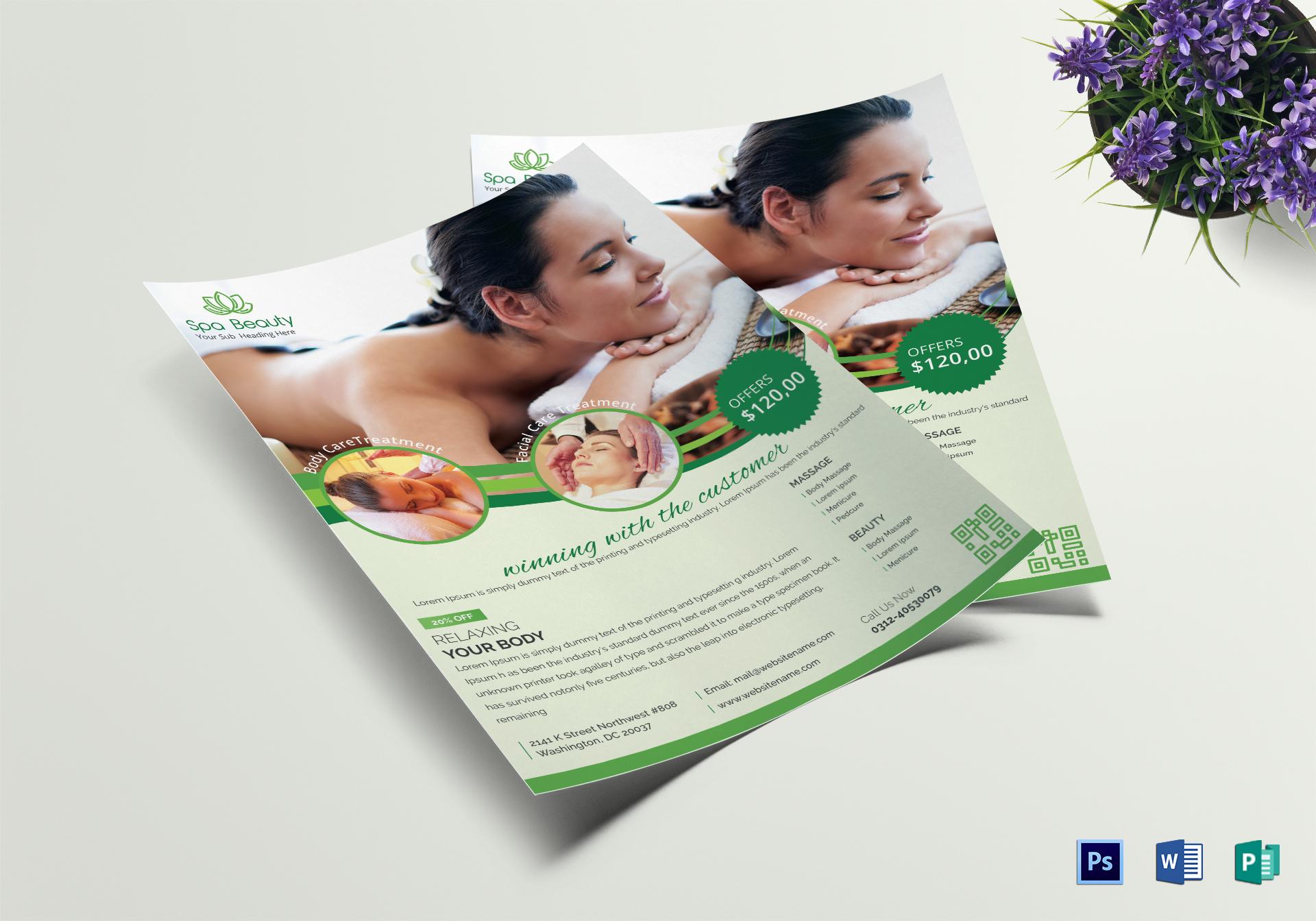 Modern Beauty Spa Flyer
