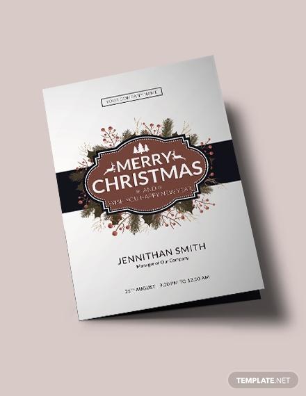 modern christmas brochure