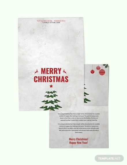 modern christmas thank you card