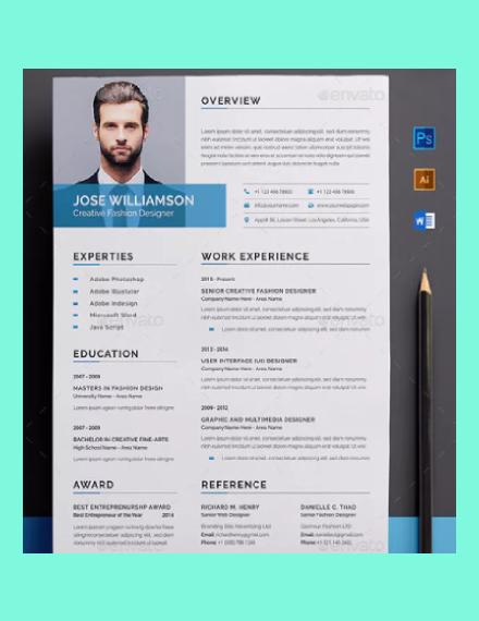 modern clean resume design