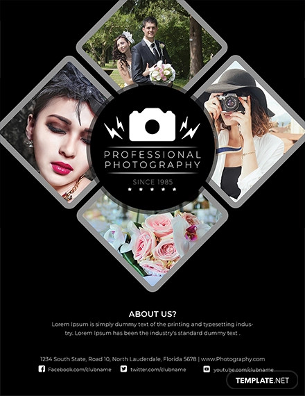 modern photography flyer