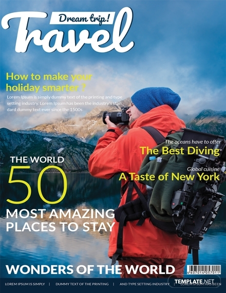 modern travel magazine cover