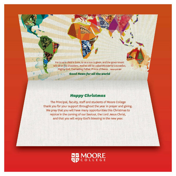 moore college christmas thank you card