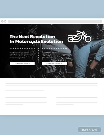 motorcycles website header