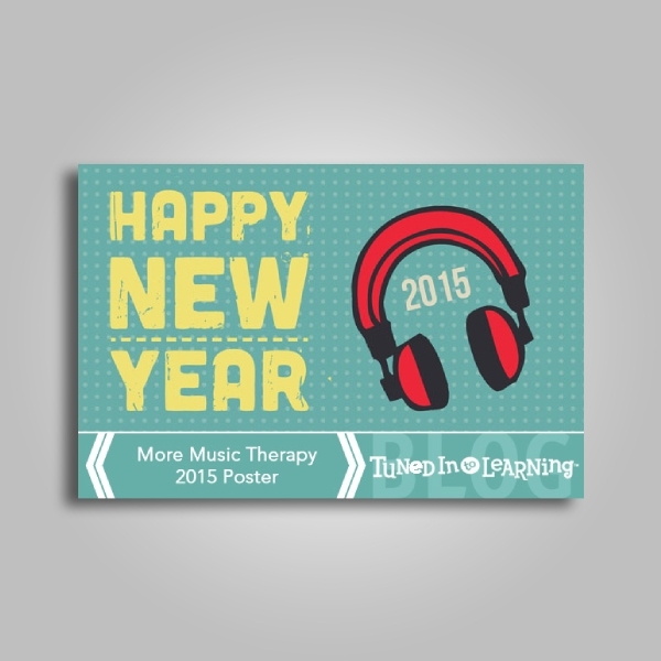 music therapy new year poster