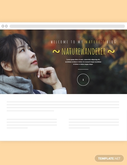 natures blog header template