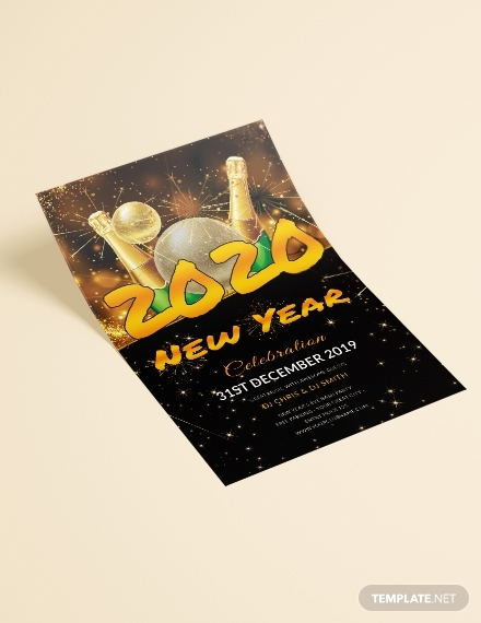 new year dj flyer sample