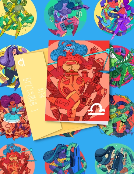 new year zodiac sign poster
