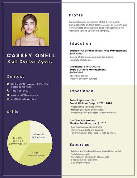 no experience call center resume