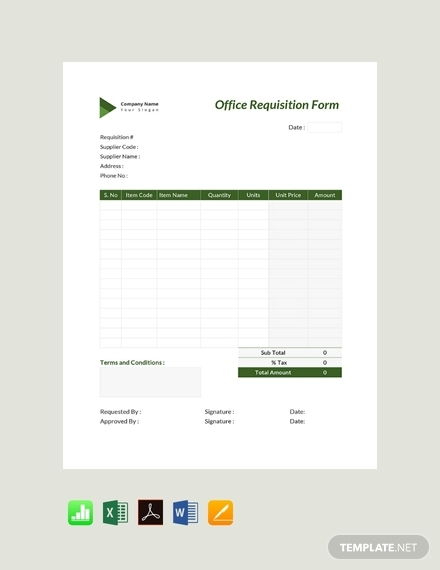 office requisition form template