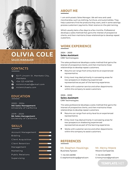 one page resume sample1