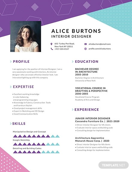 one page resume for experienced employee template