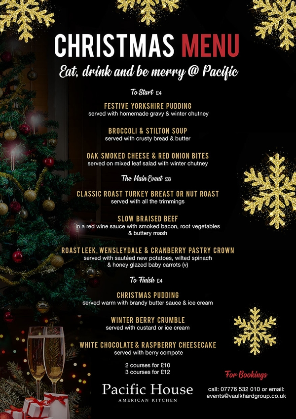 pacific house christmas menu