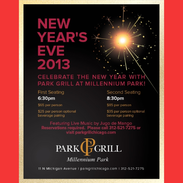 park grill new year flyer