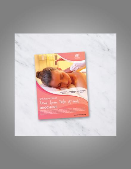 pastel beauty spa flyer
